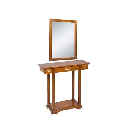 Recibidor con espejo colonial 80x30x78 cm