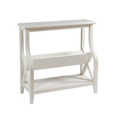 Mueble revistero color blanco
