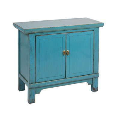 Console with 2 green doors