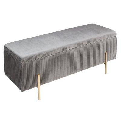Banqueta - Baúl Deco gris