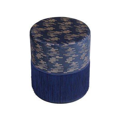 Puff Deco azul