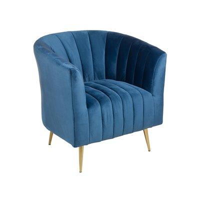 Deco armchair blue