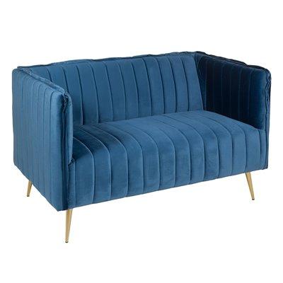 Sofá azul da arte