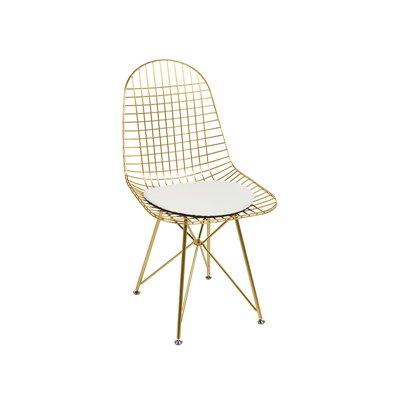 Chaise en métal avec assise blanche