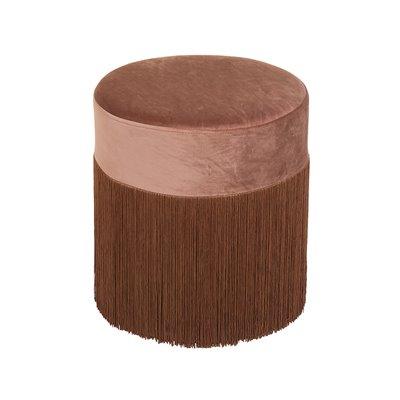 Puff velvet marrón