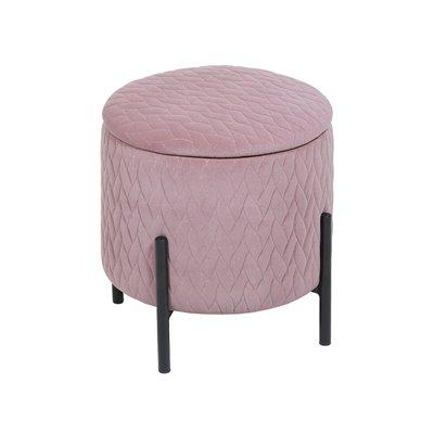 Taburete con patas rosa