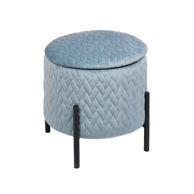 Stool with legs blue