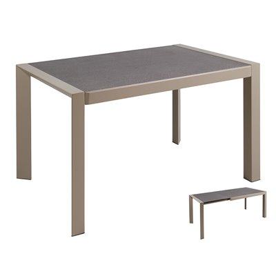 Table à manger extensible grise
