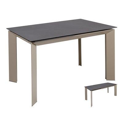 Mesa de comedor extensible gris