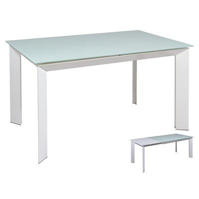 Mesa de comedor extensible branca