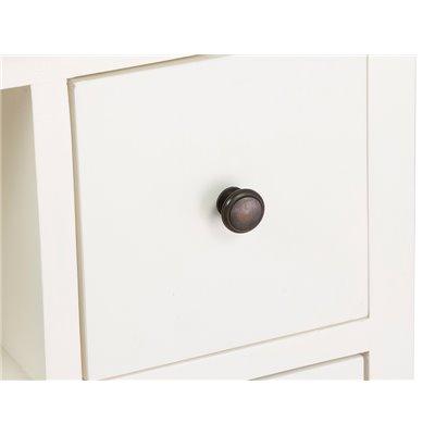 Mueble blanco de 4 cajones
