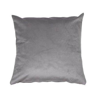 Velvet cushion gray 45x45 cm