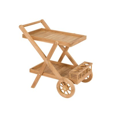 Serving trolley teak