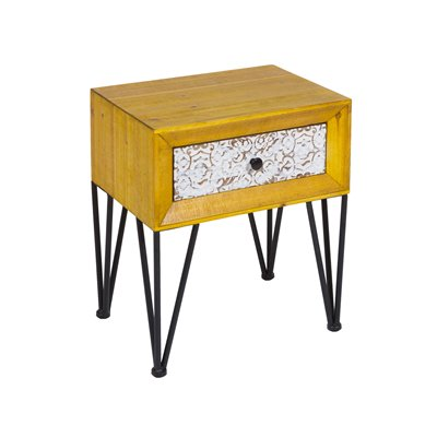 Nara shabby chic style bedside table