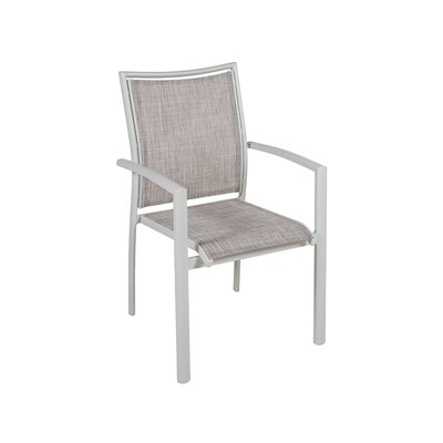 Cadeira aluminio xardín