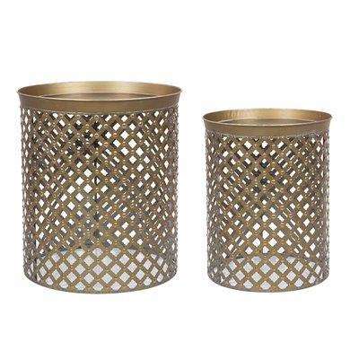 Set de 2 tables en métal