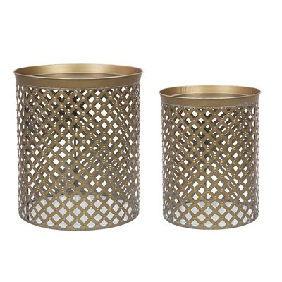 Set of 2 metal tables