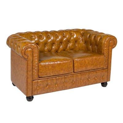 Chester braunes 2-Sitzer-Sofa