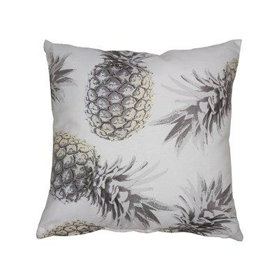 Coussin ananas gris 60x60 cm