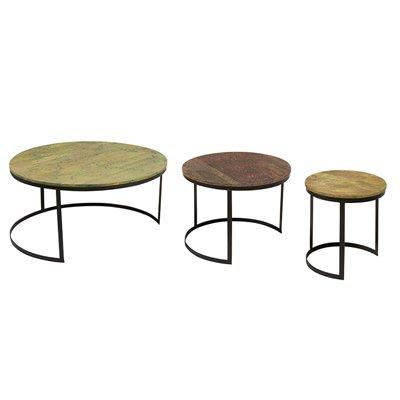 Set mit 3 kleinen Tischen Circle