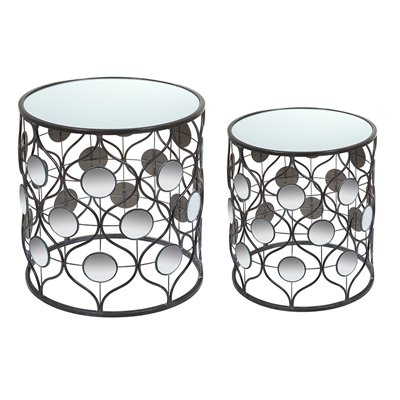 Set of 2 mirror tables