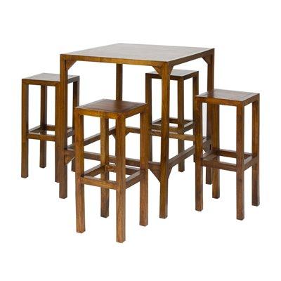Bar Tisch mit 4 Hocker 80 x 80 x 100 cm