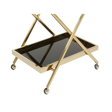 Cart - Waitress trolley with wheels golden