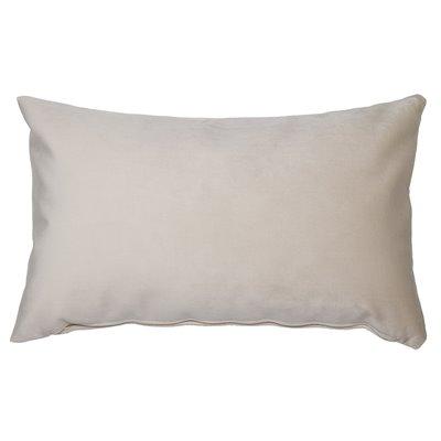 Beige velvet cushion 30x50 cm
