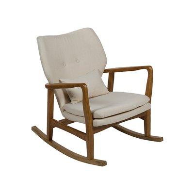 Beig Chaise à bascule rembourrée