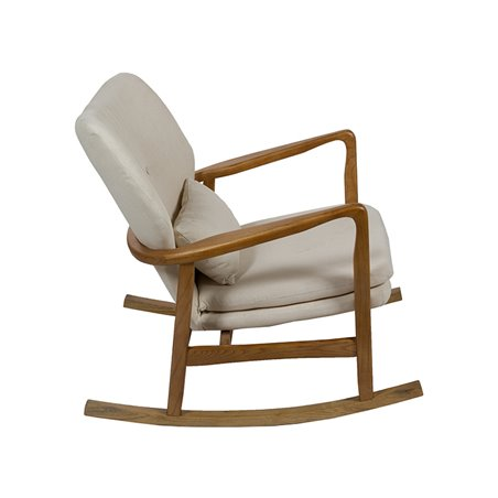 Beig Upholstered rocking chair