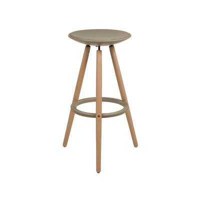 Runder beige Hocker