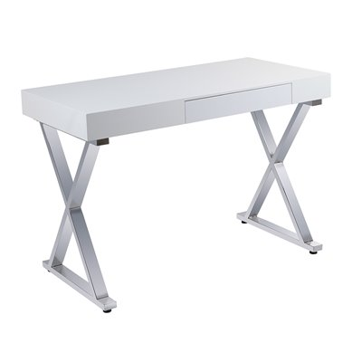 Table de bureau en chrome