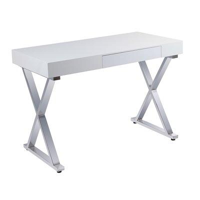 Taula escriptori cromada