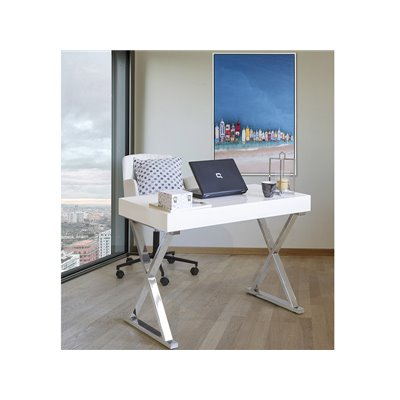 Chrome desk table