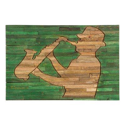 Quadre de fusta músic