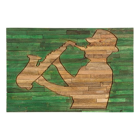 Musician wood painting