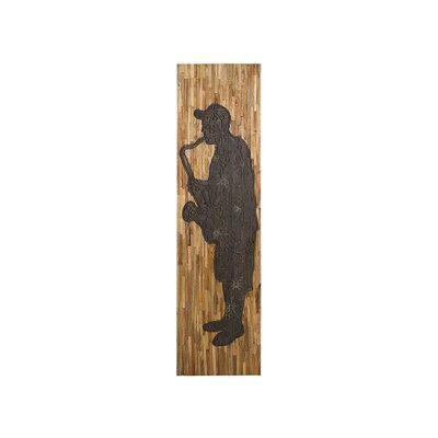 Quadre de fusta saxofon