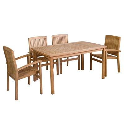Tisch + 4 Stühle 150 x 90 CM