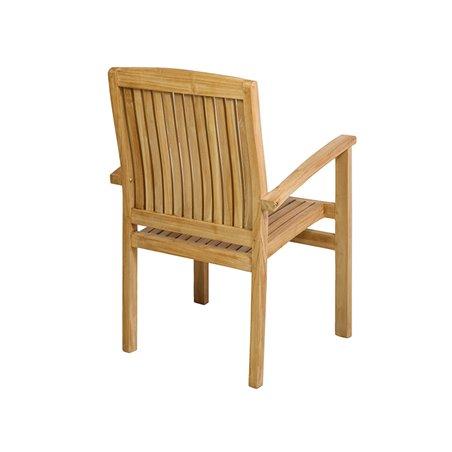 Mesa de teca con 4 cadeiras de brazos