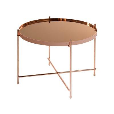 Mesa de centro redonda cobre