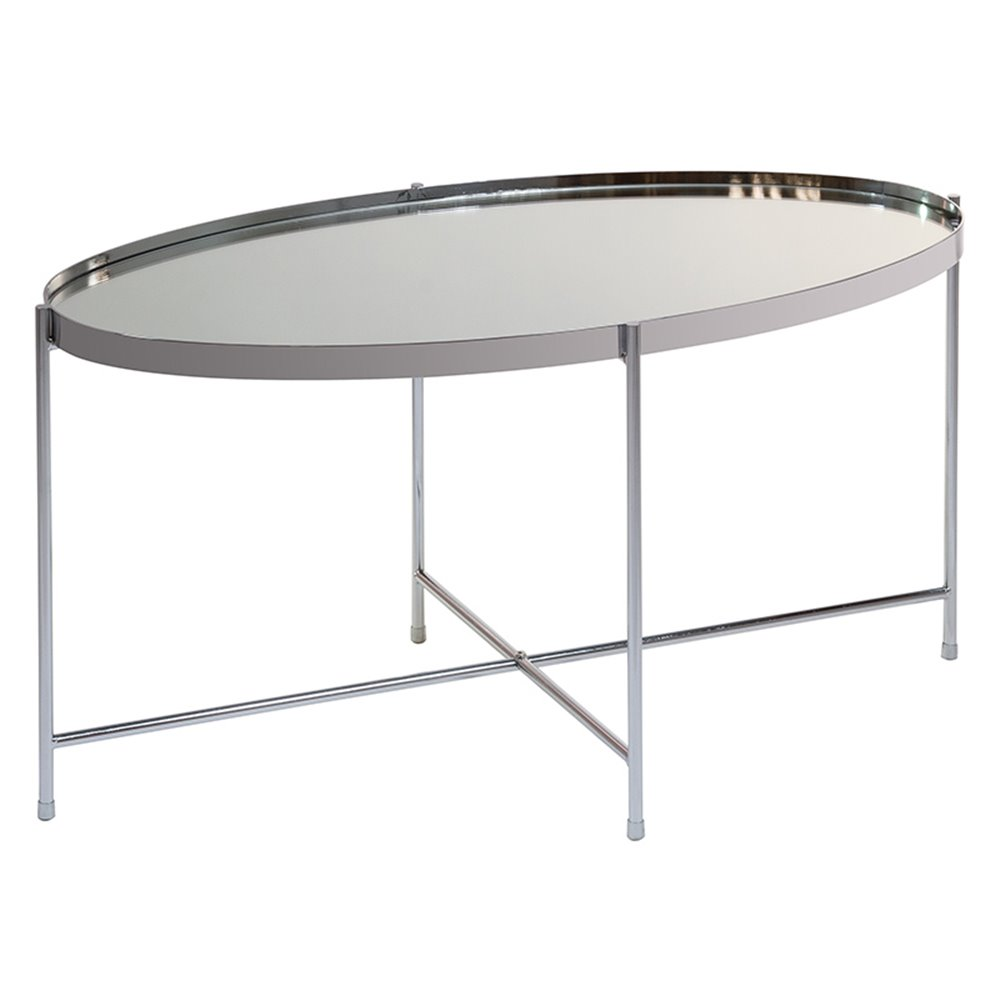 - Silver Oval Coffee Table