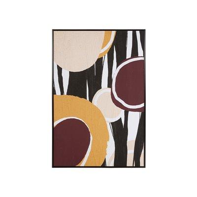 Cuadro óleo abstracto círculos