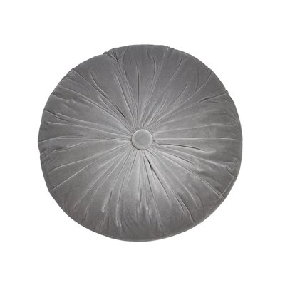 Gray round cushion