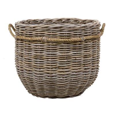 Set of 2 round rattan baskets