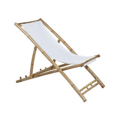 Silla de playa plegable de bambú