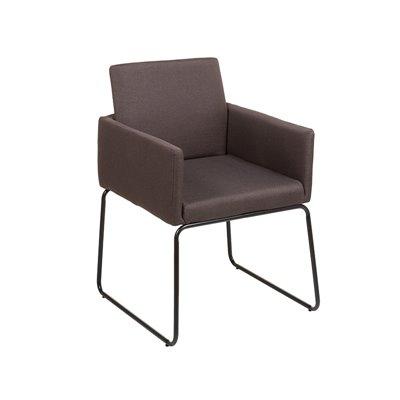 Woven brown armchair