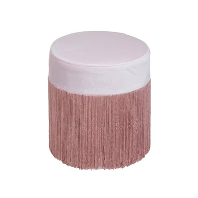 Pink velvet puff