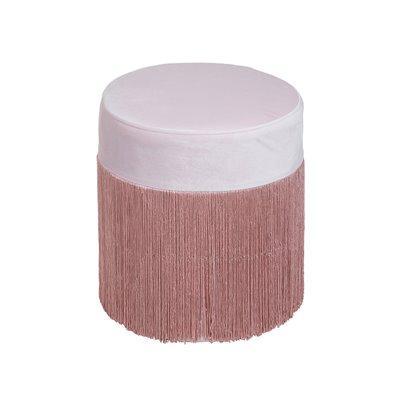 Puff di velluto rosa