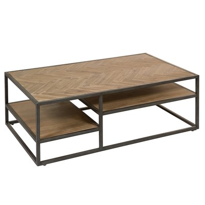 Parquet Coffee table with shelves