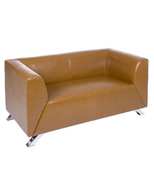 Zwei Sitzer Sofa Elegant Brown